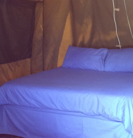 Tent with Double Bed and 1 Single bed